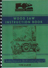 Ferguson Tractor Wood Saw Instruction Book Manual