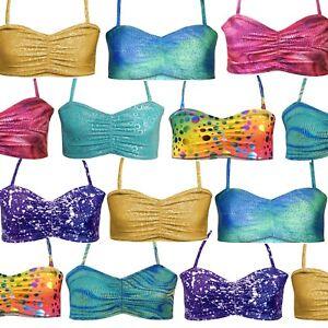 Bambini-Ragazze-Top-Reggiseno-Top-Bikini-Top-Sirena-Top-Dance-Swim-Top-Tutte-le-Taglie-Eta-Taglia