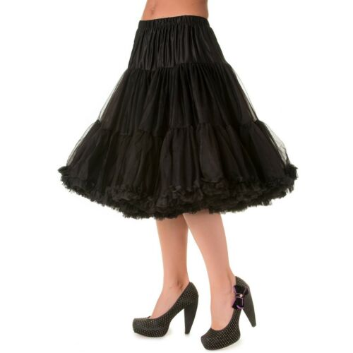Banned Vintage Rockabilly Swing Sottoveste Sotto Gonna Tulle Rock-Lifeforms Nero