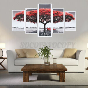 5Pcs Modern Canvas Oil Painting Wall Art Home Picture Abstract Print Home Decor
