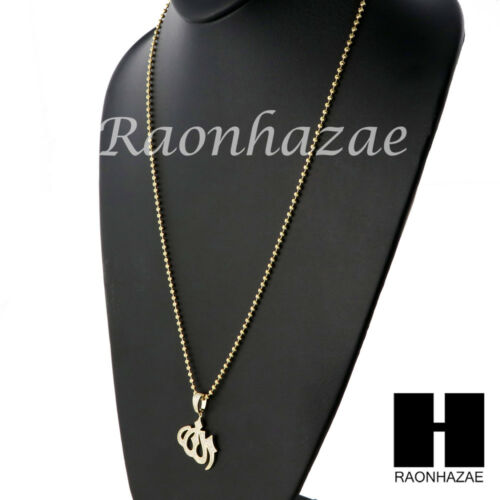 AAA Lab Diamond Sterling Silver .925 Iced Out Allah w//2.5mm Moon Chain S34