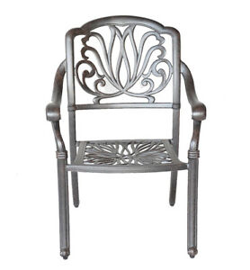 Outdoor-furniture-patio-dining-chair-Elisabeth-cast-aluminum-Garden-Desert-Bronz
