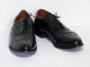"Men's Allen Edmonds ""Chester"" Black Wing Tip Oxfords Dress Shoe 10 C Made in USA"