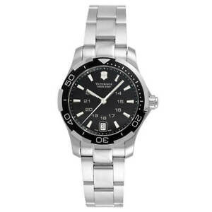 Victorinox-Swiss-Army-Women-039-s-Watch-Alliance-Black-Dial-Bracelet-241305