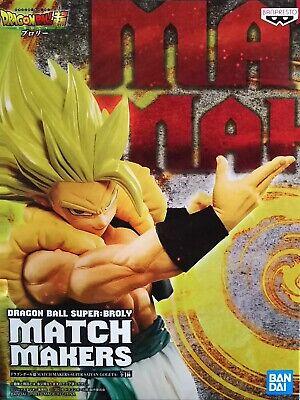 Banpresto Dragon Ball Super Match Makers Super Saiyan Gogeta Broly Figure 2 set