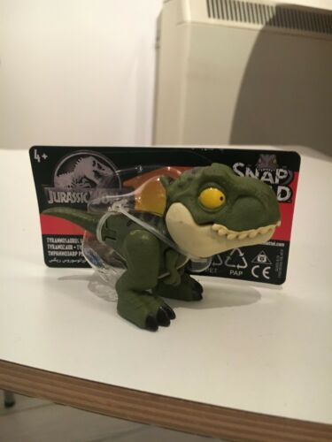 T-REX Buck VERDE JURASSIC WORLD Snap Squad Tyrannosaurus Park Figura Giocattolo Nuova