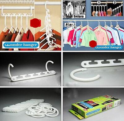 8pcs Wonder Space Saving Wardrobes Closet Clothes Organizer Storage Hook Hangers