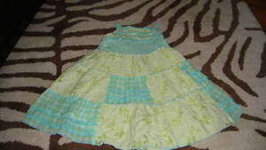 NWOT NEW BOUTIQUE KATE MACK 2T GREEN GLORAL GINGHAM DRESS
