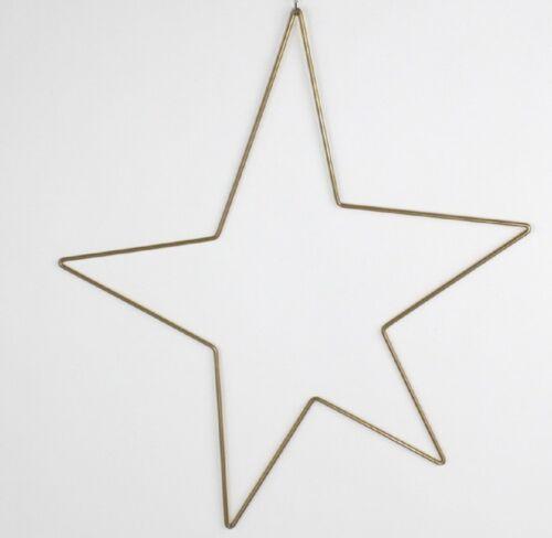 Stern Deko Weihnachten gold 46x40cm Weihnachts Anhänger Deko zum Hängen xmas