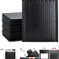 New Listingmetronic 6x10 Black Bubble Mailers 50 Pack Poly Bubble Mailers Self Seal S