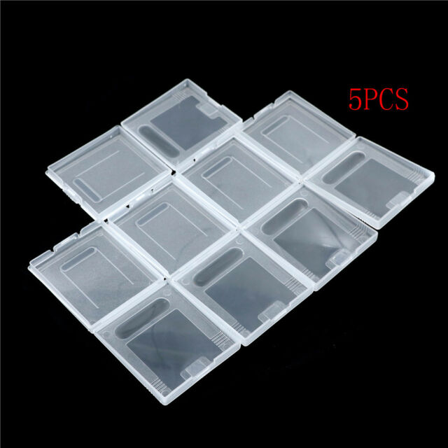 5Pxs Clear Plastic Game Cartridge Case Dust Cover for Game Boy GB GBC GBP QC