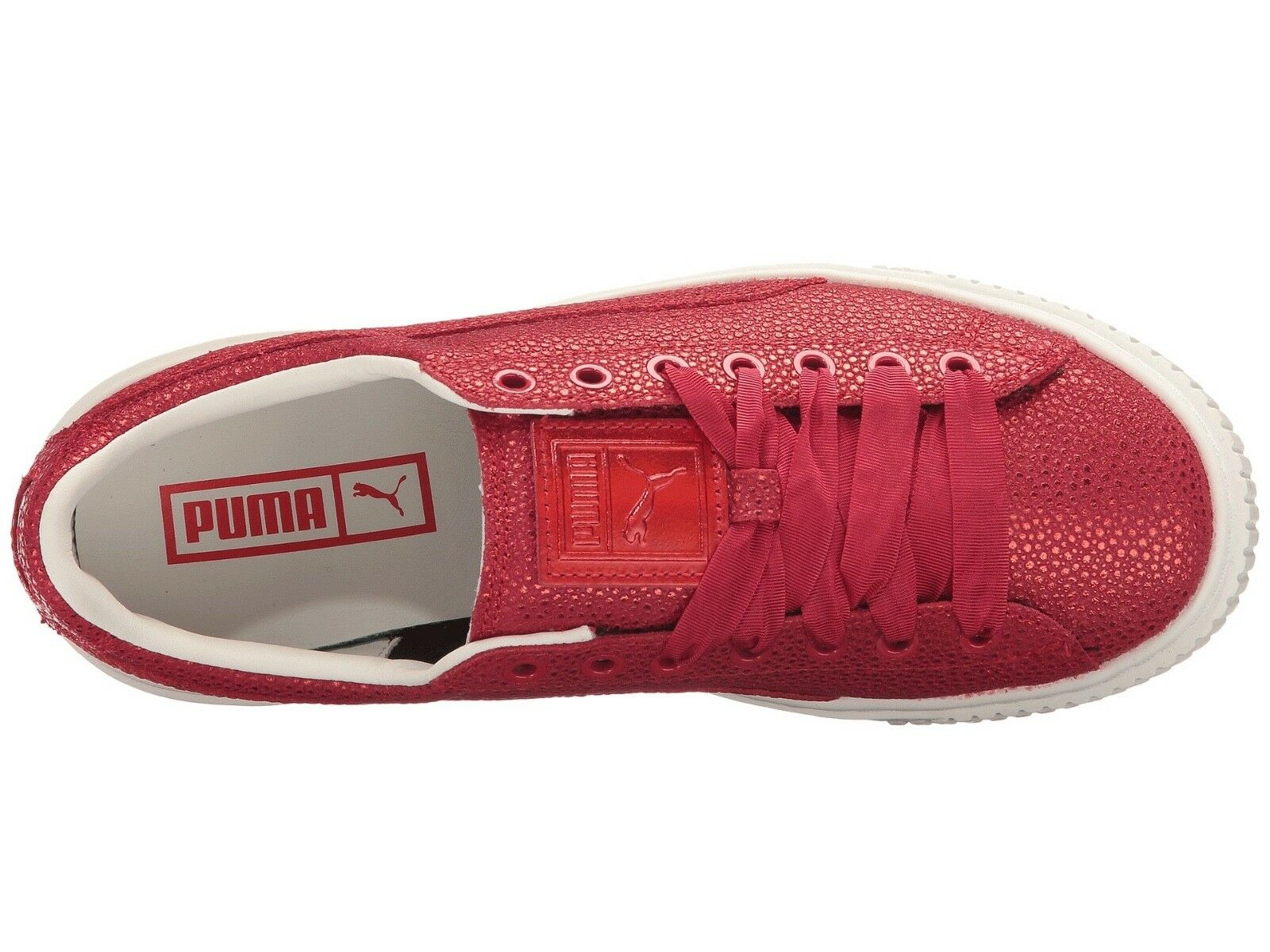 NEW Platform 120 Damenschuhe Puma Schuhes Platform NEW Lux Sneakers in Toreador Metallic ROT sz 8 e45a6e