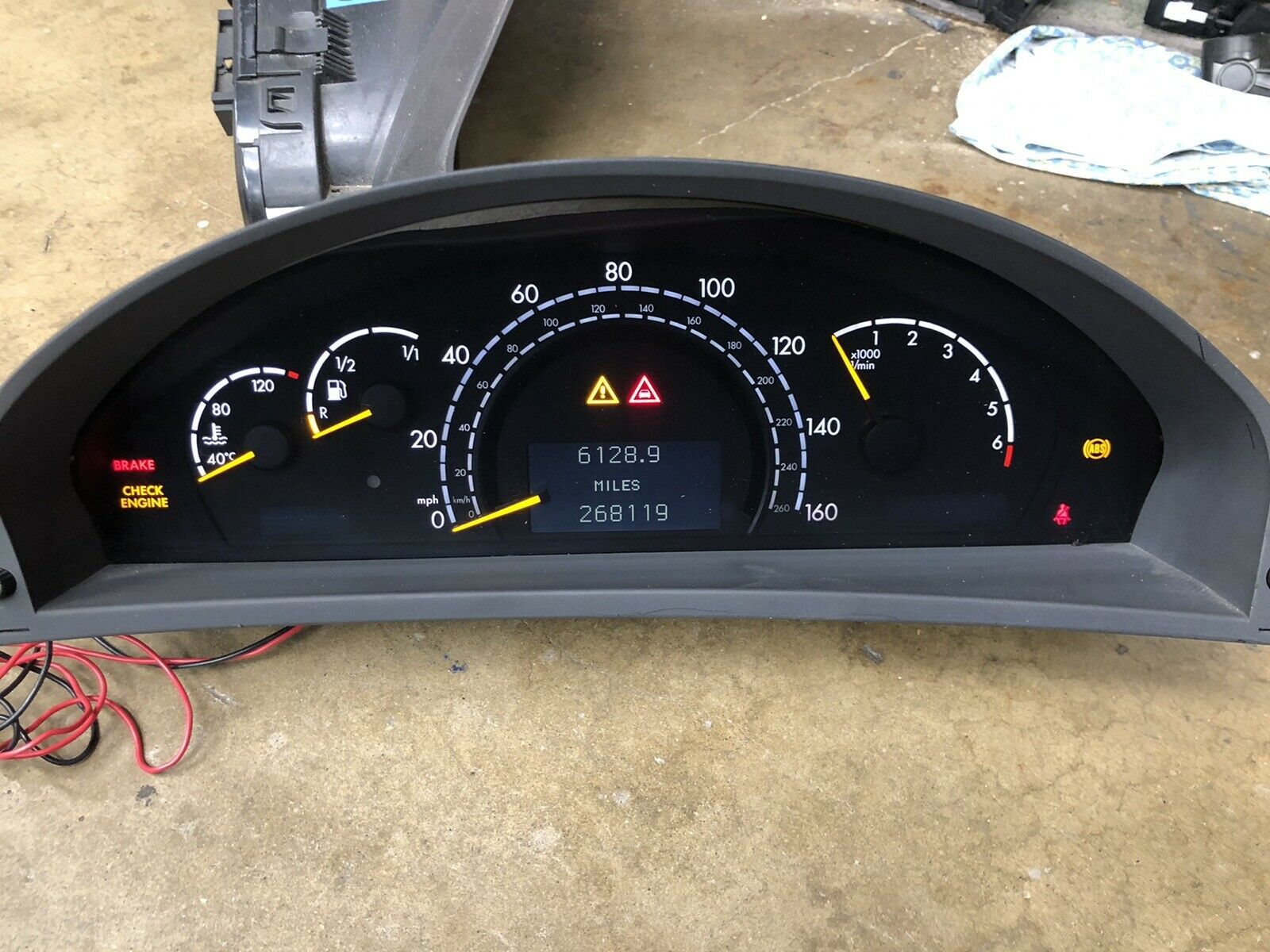 Display unit for Mercedes S//CL Class W220 W215 instrument cluster LUM0279C