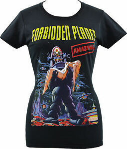 Image Is Loading LADIES T SHIRT FORBIDDEN PLANET ROBBY ROBOT ANNE