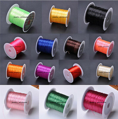 1 roll Strong Elastic Stretchy Beading 1mm Thread Cords For Jewelry Making
