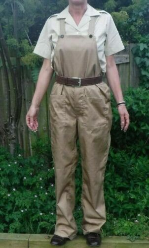 Woman/'s Land Army WLA Dungarees Home front Girls Bib /& Brace WWII Reenactor WW2