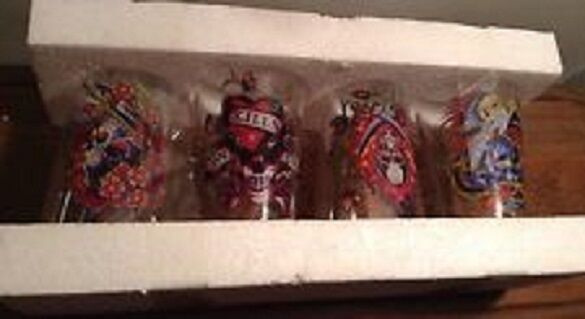 Ed Hardy By Christian Audigier Set Of 4 Tumblers Boxed ideal Wedding Gift