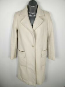 WOMENS-MASSIMO-DUTTI-FITTED-WOOL-RICH-WHITE-TRENCH-BUTTON-UP-OVERCOAT-UK-8