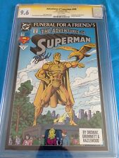 Adventures of Superman #499 - DC - CGC SS 9.6 NM+ - Signed by Jerry Ordway