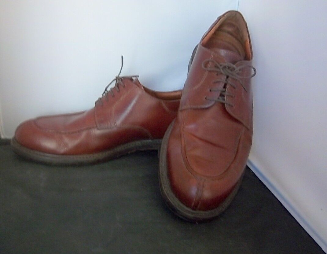 JOHNSTON & MURPHY - Men's 20-2038 Brown Leather Split Toe Oxfords  -- SIZE 11