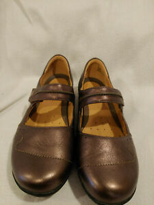 Clarks-Artisian-Unstructured-Un-Helma-Bronze-Leather-Mary-Jane-Shoe-Size-9-5-W