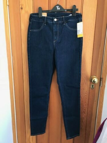 h and m skinny high waist ankle jeans indigo or black 29 30 bnwt