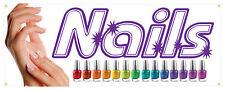 Nails Salon Manicure Spa Beauty Store Sign 18x48