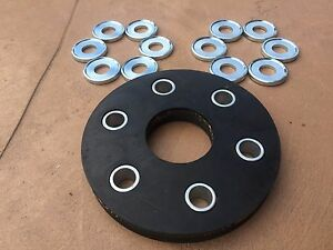 Rhino Rotary Cutter Flex Coupler Rubber Pad Kit 00762215, 0076647A, 00771287