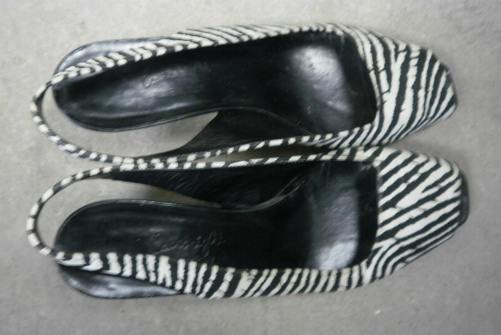 lauro 80er righi Peeptoe Damen Pumps made italy 80er lauro TRUE VINTAGE Sandalette Schuhe 290de4