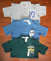 Boys Polo Shirt Top Gray Blue Green Size 10 12 14 16