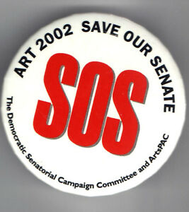 SOS-ART-2002-Save-Our-SENATE-Campaign-Committee-Pin-DEMOCRATIC-PARTY-ArtsPAC