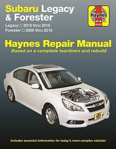 2009 2016 subaru legacy forester haynes repair service workshop rh ebay com 1993 Subaru Legacy 1993 subaru legacy repair manual