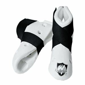0c72ca7ffdf Image is loading White-Student-Martial-Arts-Sparring-Foot-Gear-Shoes-