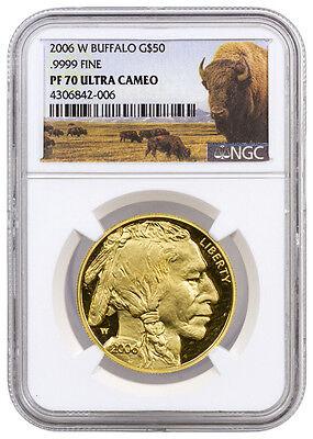 2006-W 1 Oz .9999 Gold Buffalo Proof $50 NGC PF70 UC (Buffalo Label) SKU29669