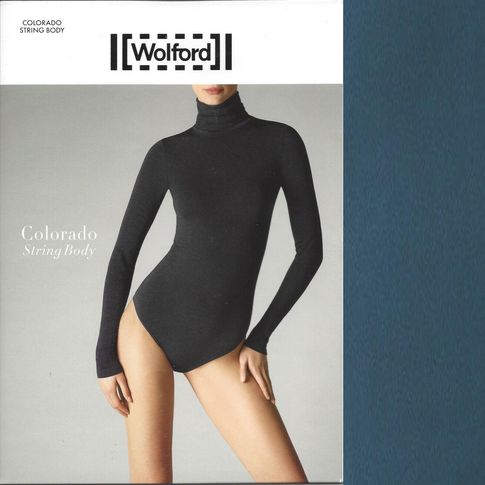 Wolford Farbeado String Body • M • iron Blau  ... nahtlos anschmiegsam