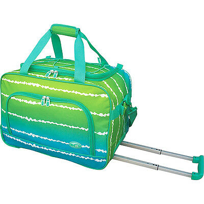 """Travelers Club Luggage 20"""" Overnight Rolling Carry-On Rolling Duffel NEW"""