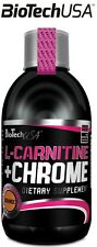 Biotech USA L-Carnitine + Chrome + B5 VITAMINS 500ml Liquid