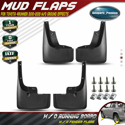 Set of 4 Mud Flaps Splash Guard for 2010-2019 Toyota 4Runner with Ground Effects