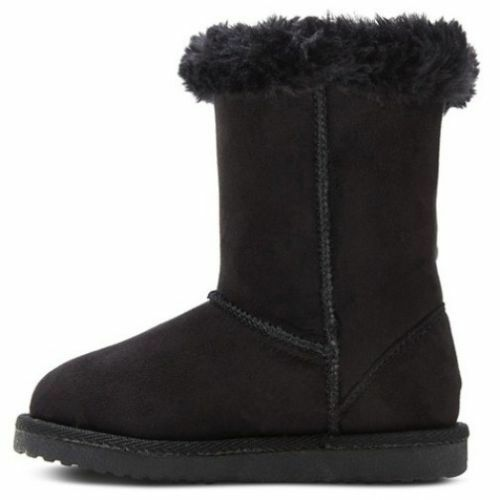 TODDLER NWT BLACK SHEARLING FLEECE BOOTS CHEROKEE DANNIE GIRLS SHOES