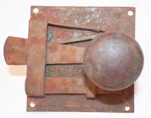 Antique-Iron-Plate-Interior-Door-Lock-18th-Century-Pennsylvania-Dutch-1