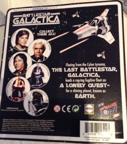 BIF BANG POW Battlestar Galactica Cylon Commander 8-Inch Action Figure NEW MOC