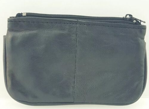 LEATHER HIGH QUALITY COIN CHANGE POUCH KEYS PURSE GENUINE LEATHER WALLET 1464