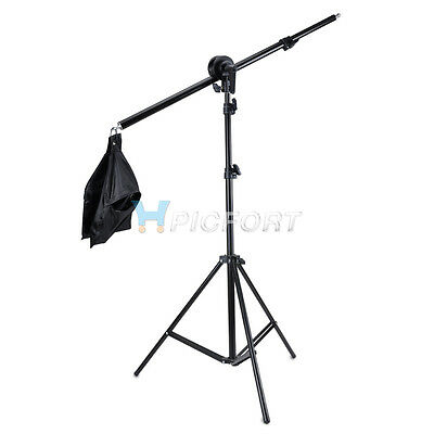 New Studio Photography Video boom arm, head, Sandbag and 2m Stand Kit
