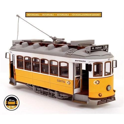 Occre Lisbon Tram 1 24 Scale Wood &  Metal Model Kit Lisboa 53005