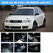 AUDI B5 14PC led smd interior light bulb kit footwell door puddle mirrors boot