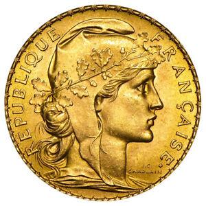20 Francs Frankreich Gold Marianne Gallischer Hahn Versch. Jahrgänge Goldmünze