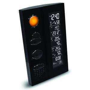 technoline ws 6650 schwarz wetterstation mit vorhersage. Black Bedroom Furniture Sets. Home Design Ideas