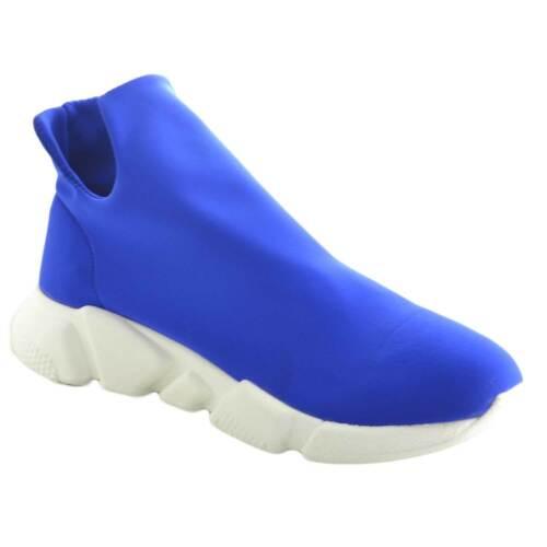 Calzino Made Antisci Italy Lycra Bassa In Uomo Fondo Scarpe Tessuto Blu Sneakers Hwqt0O0