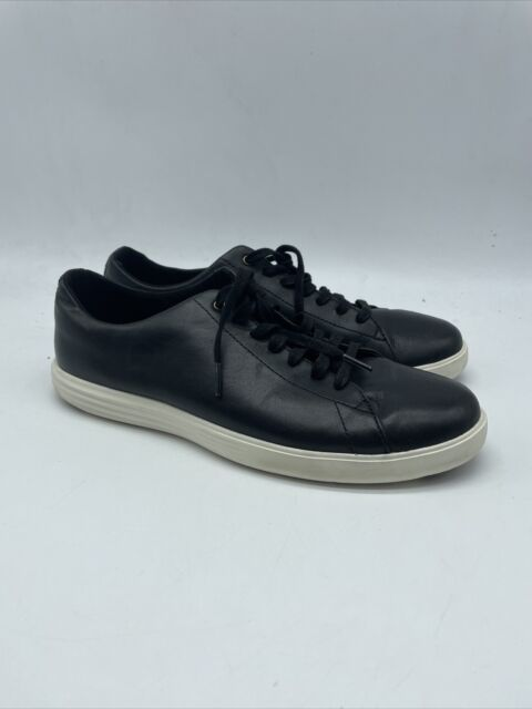 Cole Haan Grand OS Black Leather Men's 9Lace Up Casual Sneakers. BS14
