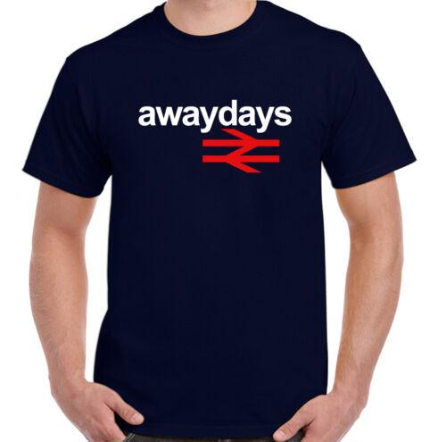 Away Days Mens Retro Football Hooligan T-Shirt British Rail Made for Standing